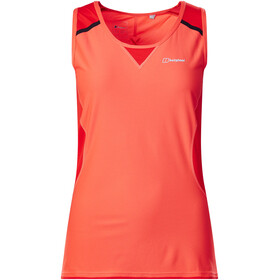 Berghaus Super Tech Camiseta sin Mangas Mujer, hot coral/volcano